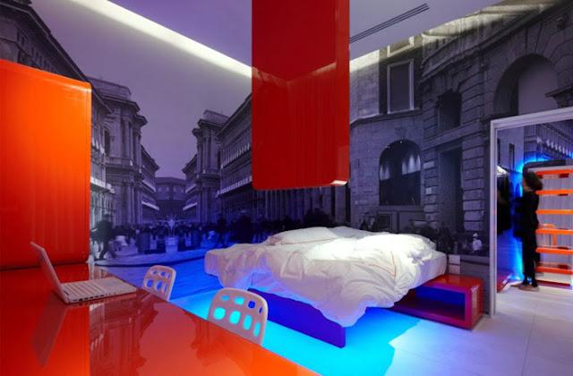 Dormitorios alucinantes futuristas con papel mural en for Mural para pared dormitorio
