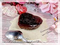 Fondants chocolat à la polenta, caramel à la framboise