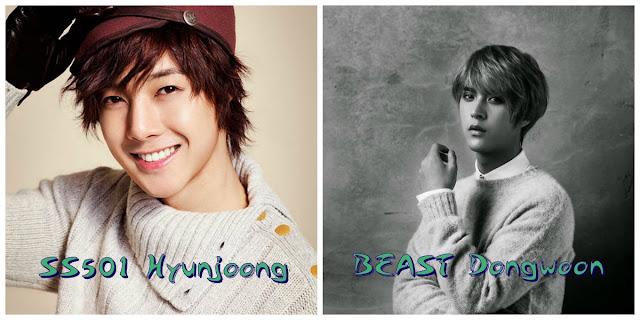 Aynı gün doğan idoller  hyunjoong dongwoon