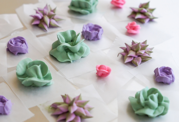 how to make royal icing succulents and roses