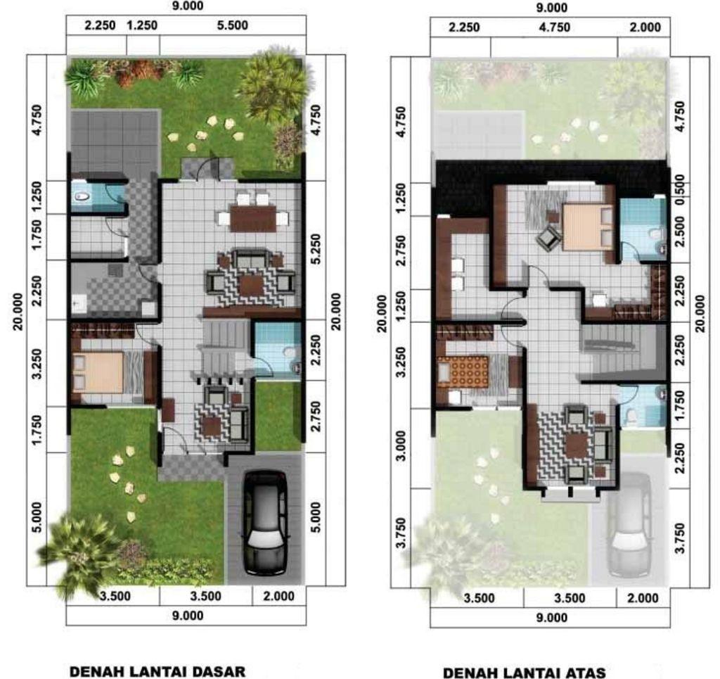 Desain Denah Rumah Idaman 2 Lantai Unik