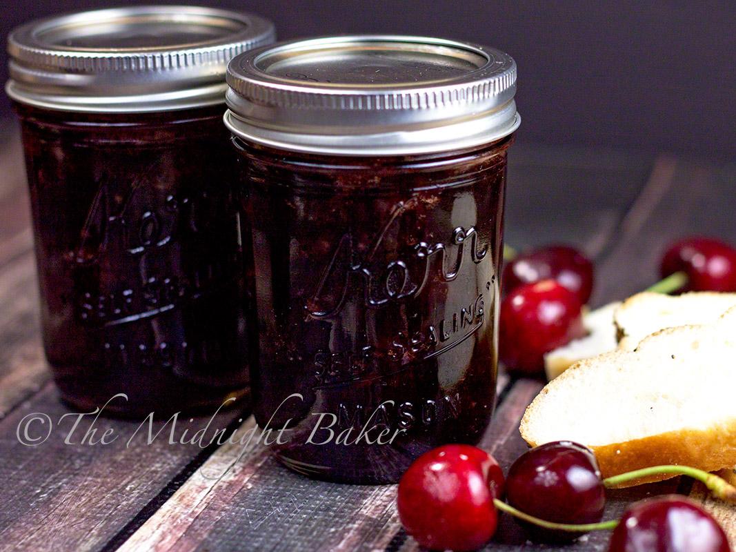 Slow Cooker Cherry Jam - The Midnight Baker