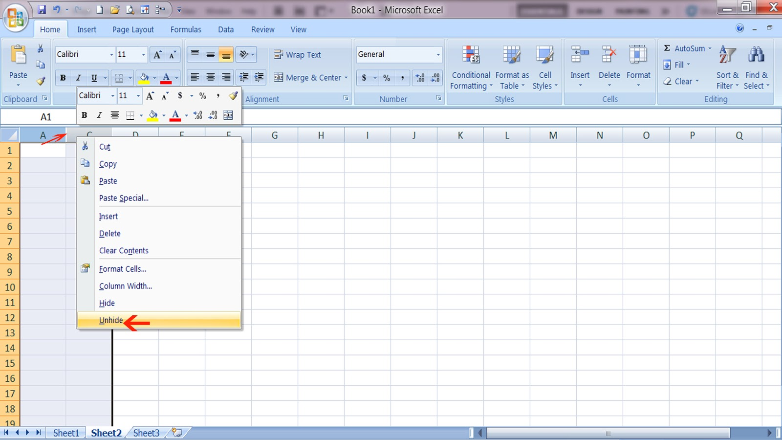 Adsjar How To Unhide Columns And Rows In Excel
