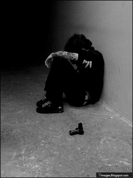 Sad, alone, boy
