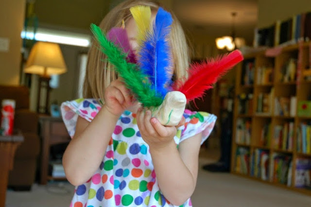 Feather Math for Bird Theme Homeschool Preschool Unit
