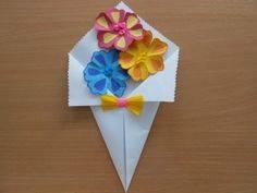 Ide membuat kerajinan kertas berbentuk bunga untuk anak-anak 3