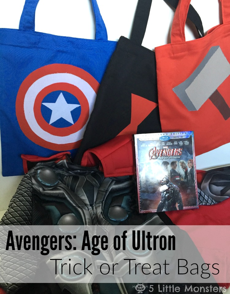Tutorial for Avengers Trick or Treat Bags including: Thor, Captain America, Black Widow