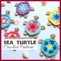 Aplique tortuga a crochet