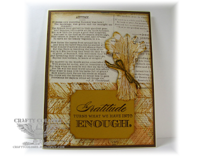CraftyColonel Donna Nuce for Cards in Envy DT Stampin'Up! Truly Grateful and CTMH Always Grateful