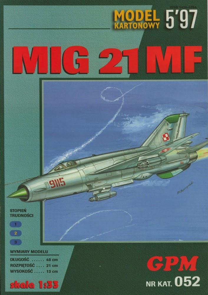 Air Paper Craft Model: Mig-21MF