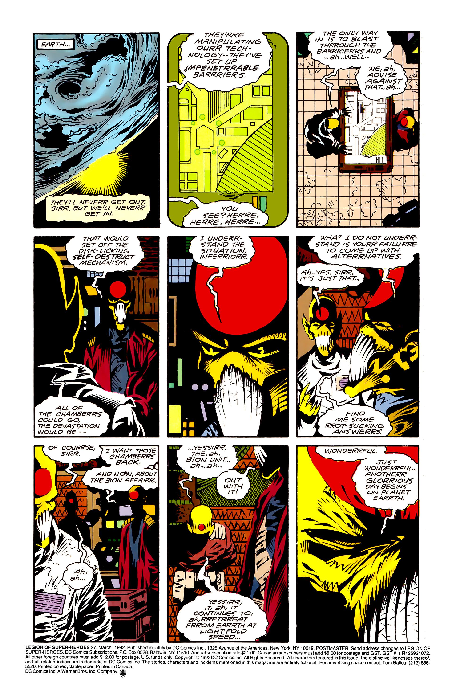 Legion of Super-Heroes (1989) 27 Page 1