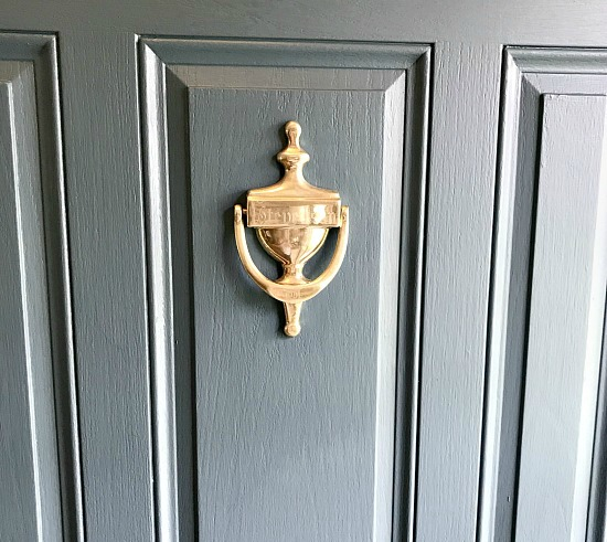 how to shine a brass door knocker and paint the front door
