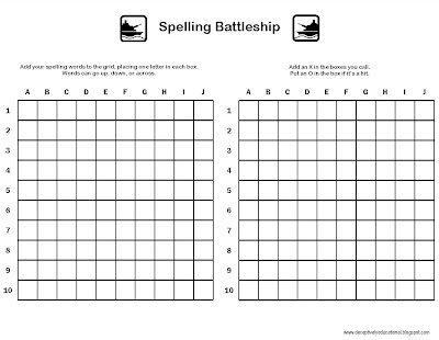 picture regarding Printable Battleship Game called Relentlessly Entertaining, Deceptively Useful: Spelling Battleship