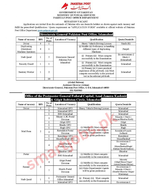 pakistan-post-office-jobs-2020-application-form