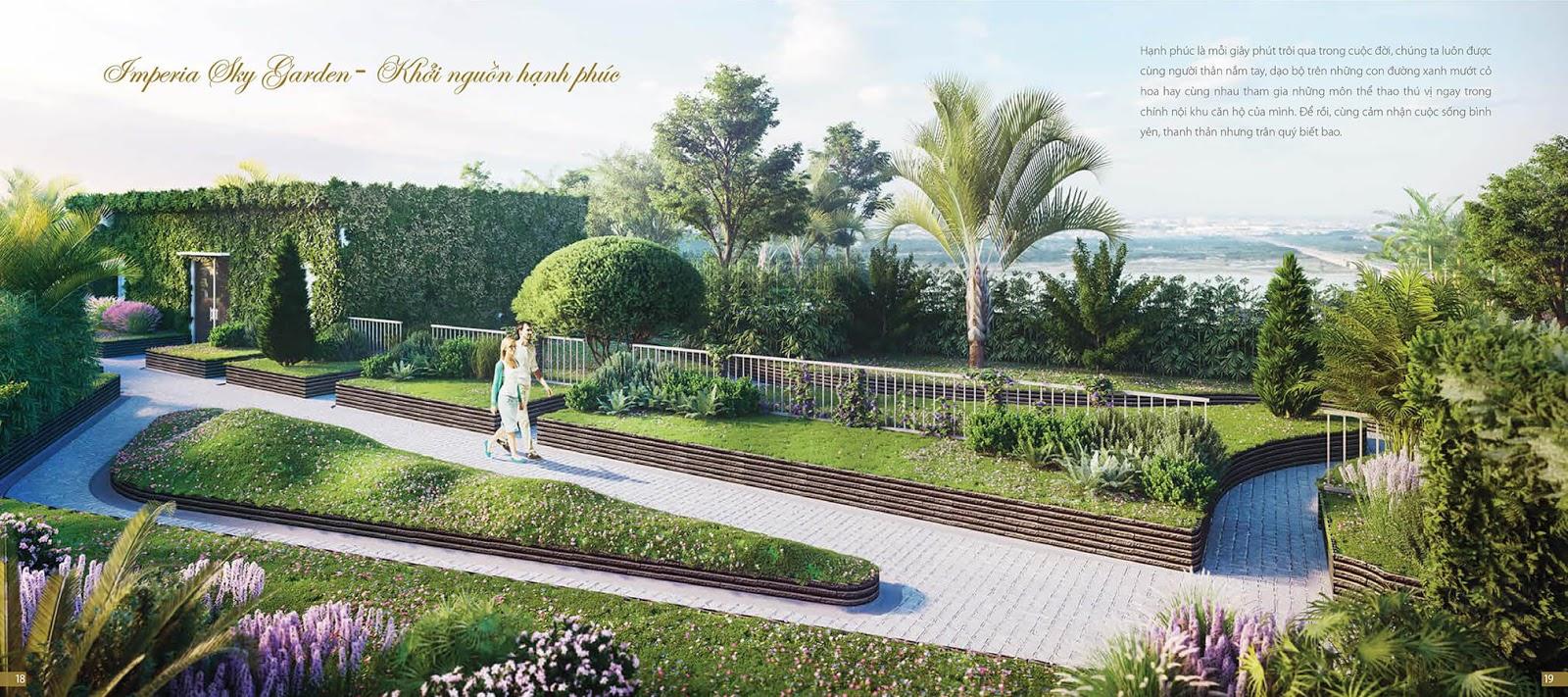 Tiện ích sân vườn chung cư Imperia Sky Garden