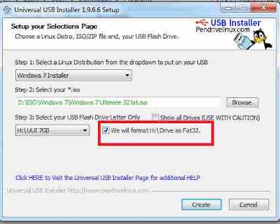 Langkah Bootable flashdisk menggunakan Universal USB Installer