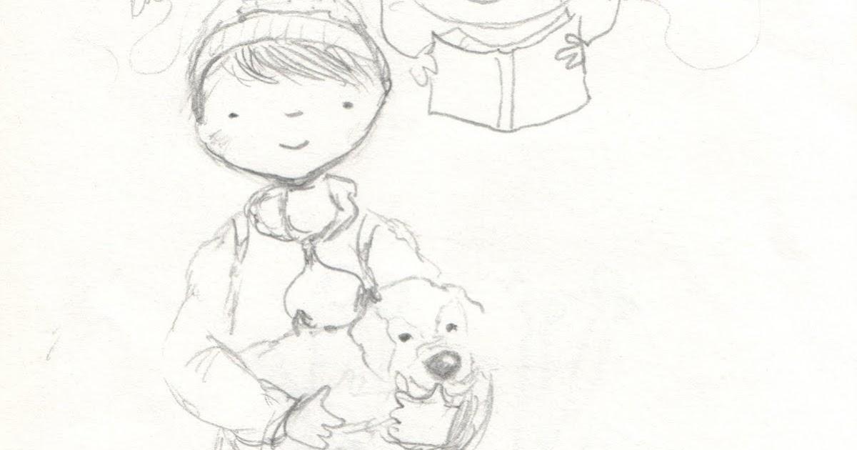 Ilustraciones infantiles. Mónica Ortiz: Boceto para
