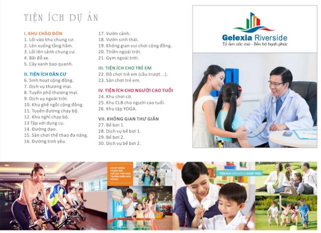 Danh sách tiện ích chung cư Gelexia Riverside