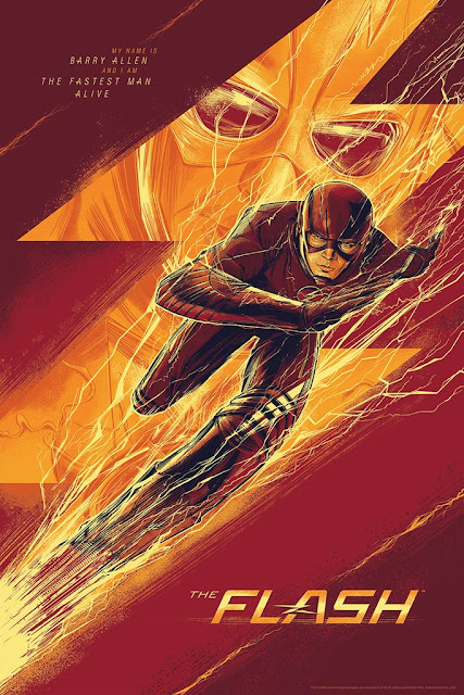 MondoCon 2016 Exclusive DC Comics' The Flash Television Series Screen Print by César Moreno x Mondo