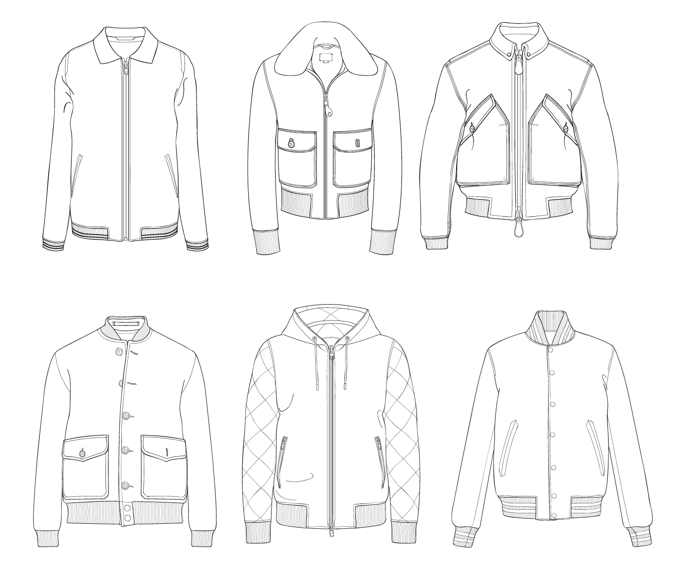 Bomber Jacket Template Sketch Coloring Page