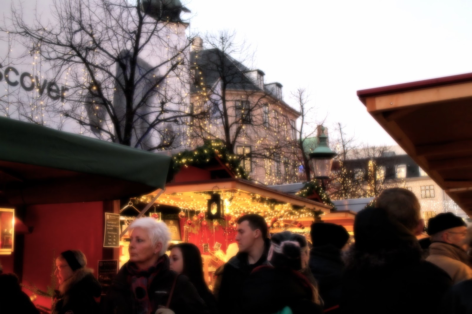 Copenhagen Christmas Market - stalls and blurry shot