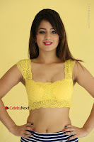 Cute Telugu Actress Shunaya Solanki High Definition Spicy Pos in Yellow Top and Skirt  0126.JPG