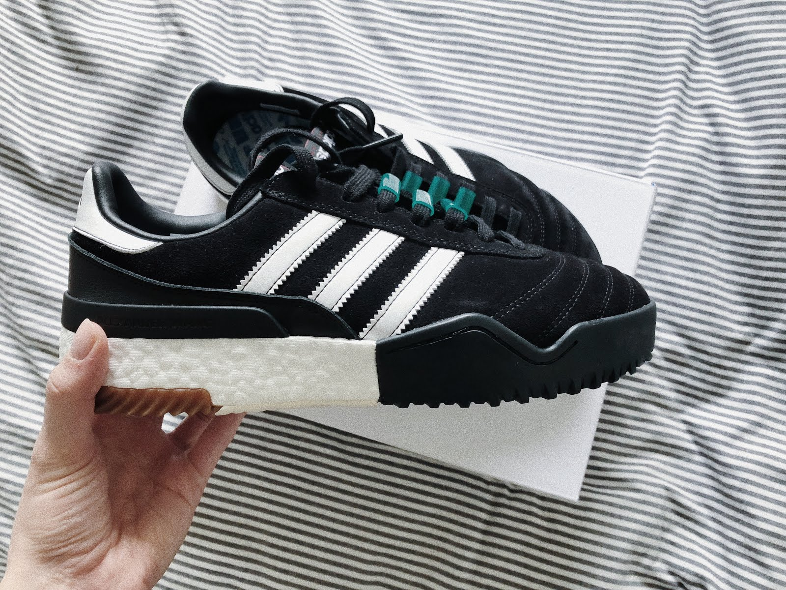 the best attitude d10ec ee115 Ive been the proud owner of a pair of Adidas Originals X Alexander Wang  Bball Soccer trainers for about six weeks now. Ive broken them in, braved  through ...