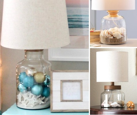 Fillable Coastal Christmas Lamp