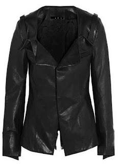 Desain coat dari bahan kulit untuk militer wanita