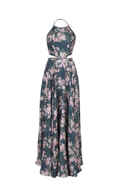 Vestido longo estampado - R$839,90