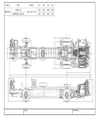 Dimensi Chasis Premium HINO RM 380