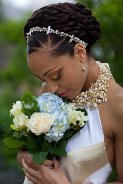 Beautiful Brown Brides Bridal Hairstyles For Natural Hair