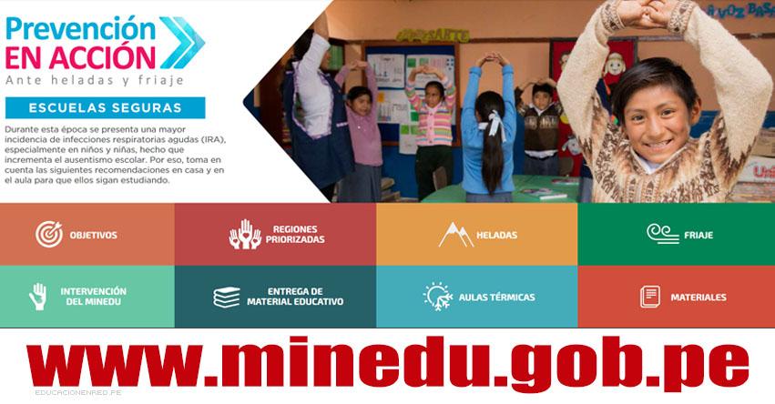 MINEDU: Prevención en Acción ante Heladas y Friaje - www.minedu.gob.pe