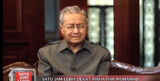 Tun Mahathir sebak ketika ditemubual TV Indonesia