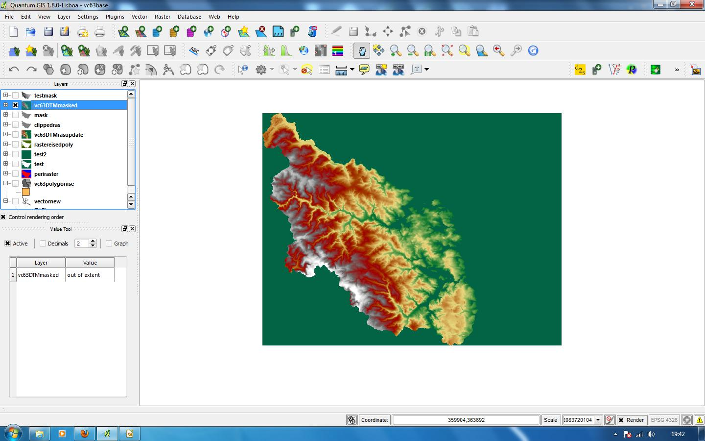 sacrevert: Creating masked vice-county rasters in Quantum GIS