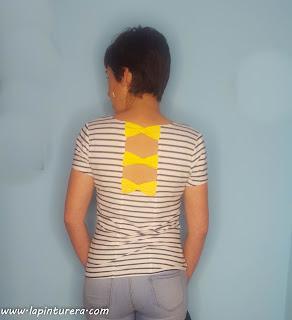 camiseta rayas puesta