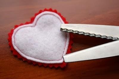 corazones en tela