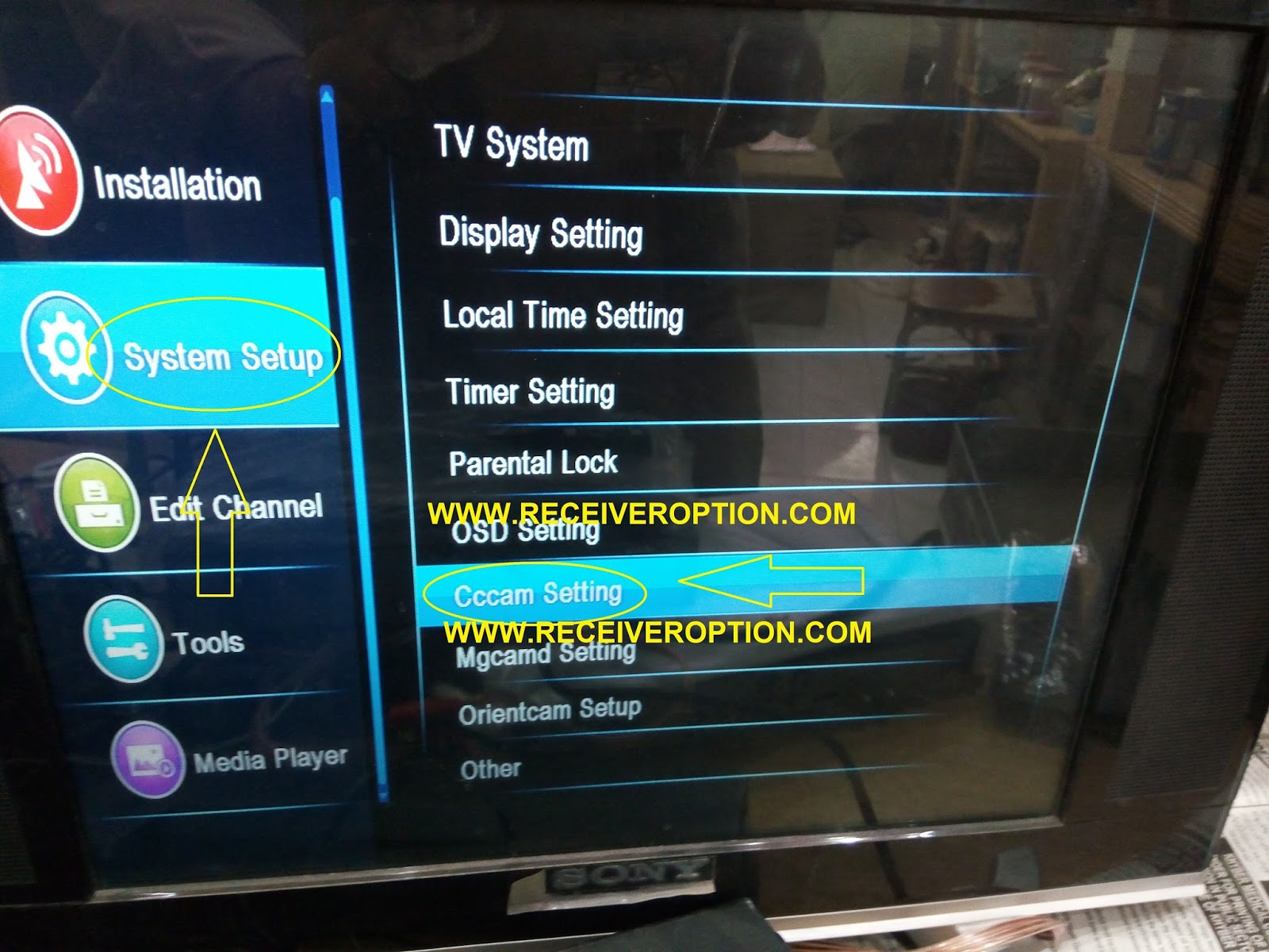 STAR TRACK ST-6000 HD RECEIVER CCCAM OPTION - HOW TO ENTER BISS KEY