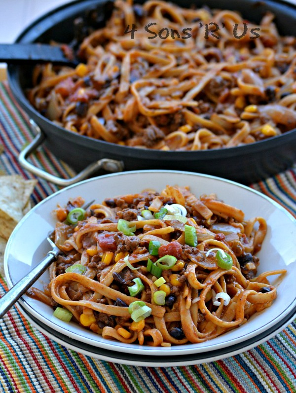 15 Minute Taco Pasta from 4 Sons R Us