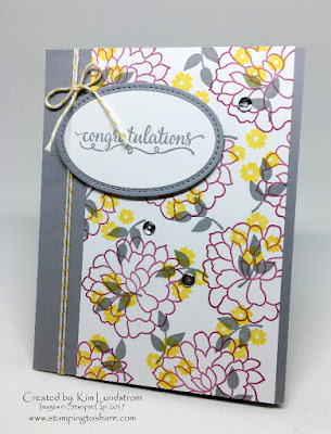 Stampin' Up! So In Love Congratulations Card, Stamping to Share