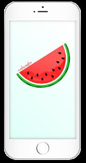 Darmowa tapeta na telefon do pobrania z arbuzem