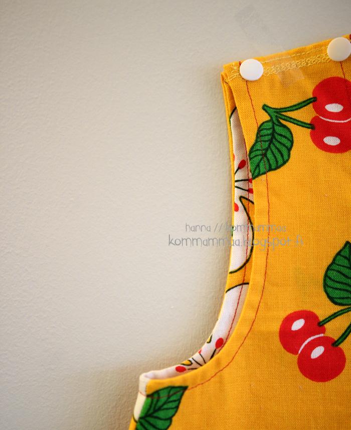 mekko a-linjainen mekkotehdas puuvilla kierrätys retro