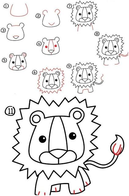 رسومات سهلة للاطفال