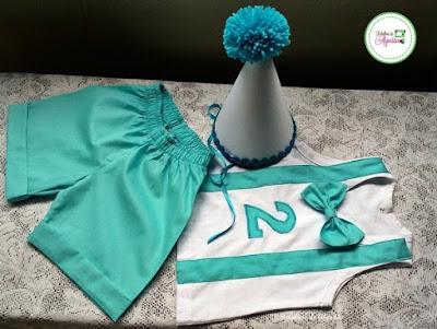 Conjunto Smash the Cake Azul Tiffany