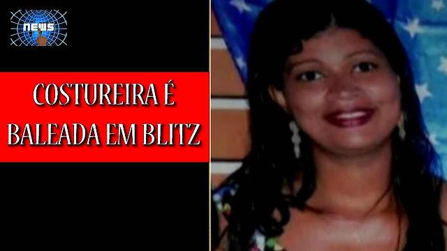 Mulher é baleada por policial militar; marido diz que obedeceu e parou em blitz e policial atirou para matar.