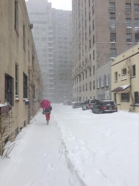 at Mews near Washington Square, Big Storm of 2016, NYC