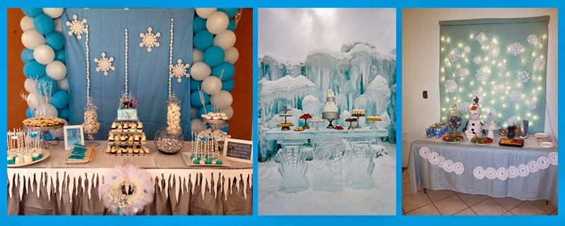 Preparando fiesta temática Frozen