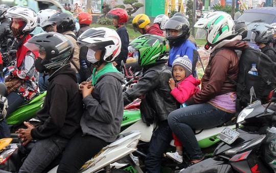 Mudik lebaran dengan sepeda motor
