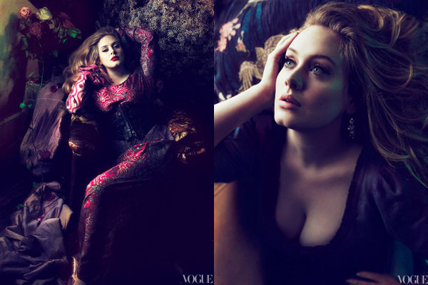 ee772fd6ae7b Adele is photographed by Mert Alas and Marcus Piggott and styled by Tonne  Goodman for the March 2012 issue of American Vogue