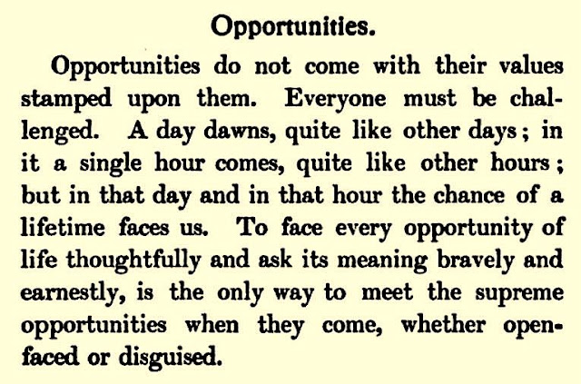 "Favorite Earl J. Arnold quote: ""Opportunities do not come with their values stamped upon them..."""
